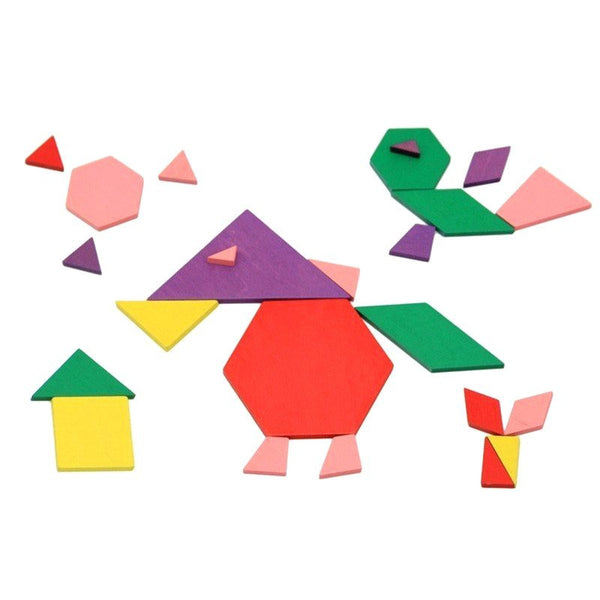Cognitive educational toys – Geometry Colored Shapes Building Up