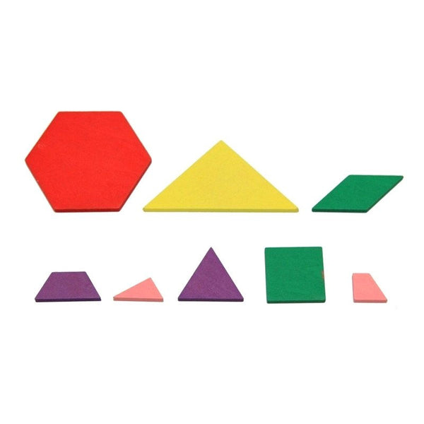 Cognitive educational toys – Geometry Colored Shapes Wooden Pieces