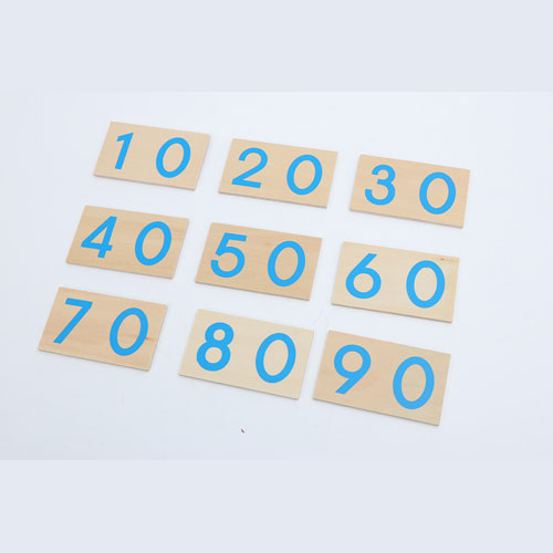 Large Numbers Wooden Cards