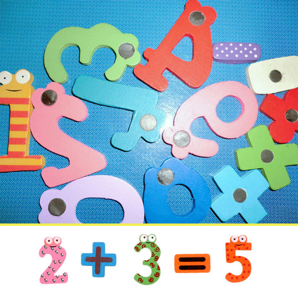 Cognitive educational toys – Magnetic Wooden Calculation Set Magnets