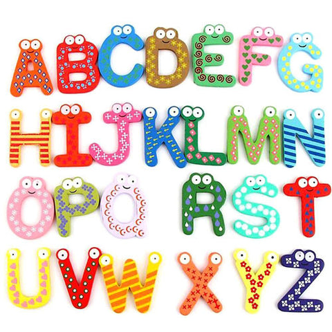 Cognitive educational toys – Magnetic Wooden Letters