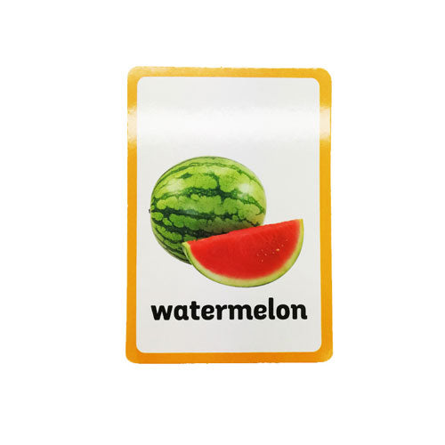 Montessori Fruits Nomenclature Cards Watermelon