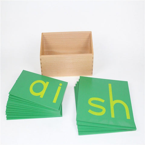 Cognitive Educational Toys - Sandpaper Lower Case Digraphs