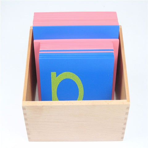 Cognitive Educational Toys - Sandpaper Lower Case Letters