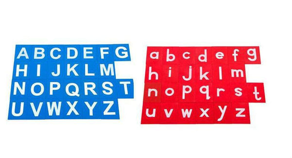 Cognitive Educational Toys - Sandpaper Upper Lower Case Letters