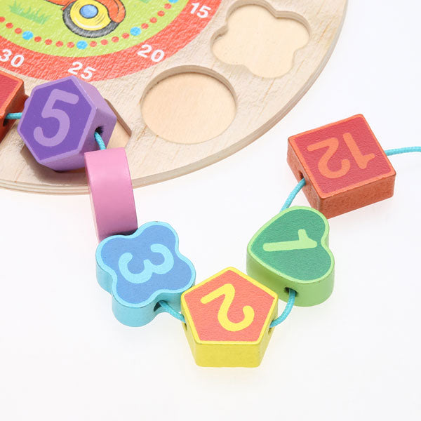 Cognitive educational toys – Wooden Learning Clock Numbers Beads