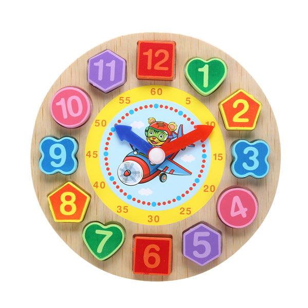 Cognitive educational toys – Wooden Learning Clock Tiger