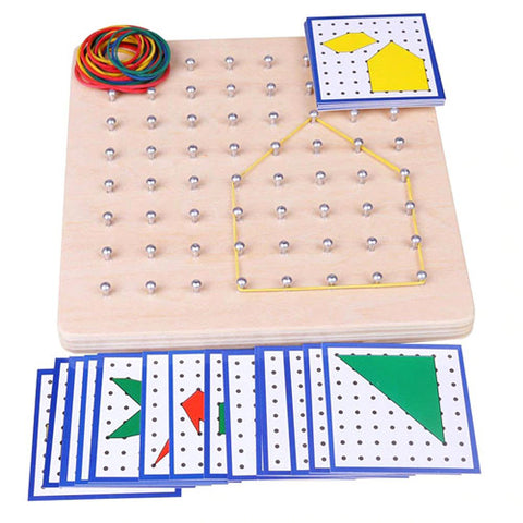 early childhood education geo rubber band board large