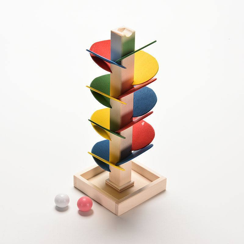 Free Wooden Marble Tree Run Montessori Official