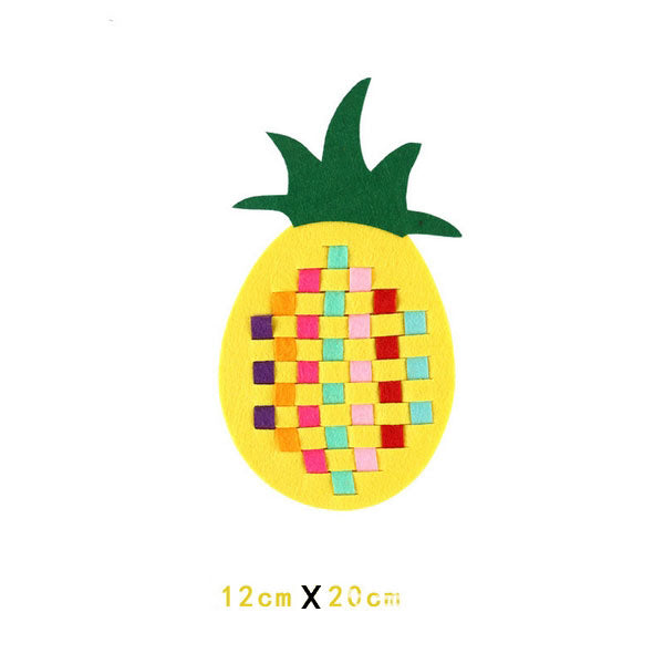 Fine Motor Skills – DIY Educational Weaving Craft Pineapple