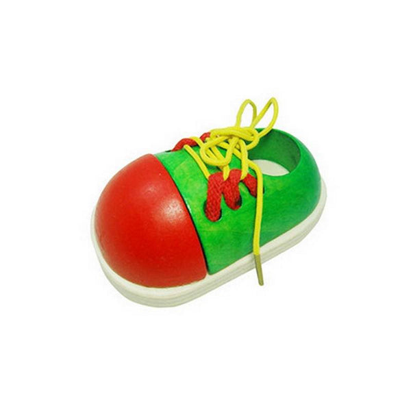 Fine Motor Skills - Toddler Lacing Shoe Green