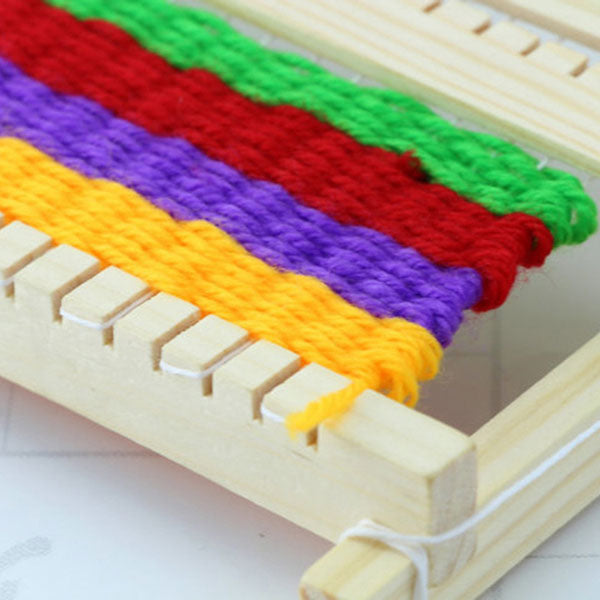 Fine Motor Skills – Montessori Wooden Weaving Loom Close up