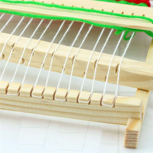 Fine Motor Skills – Montessori Wooden Weaving Loom White String