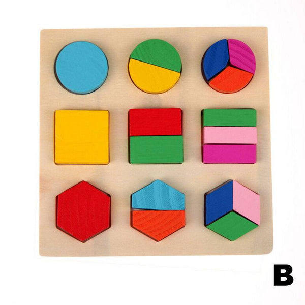 Hand-eye Coordination - Educational Geometry Blocks Board B