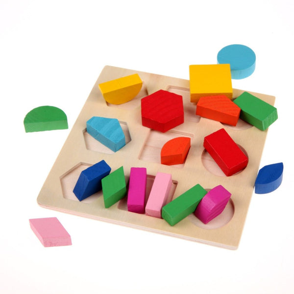 Hand-eye Coordination - Educational Geometry Blocks Puzzle Pieces