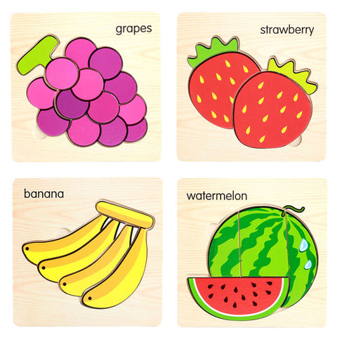 FREE Fruit Learning Puzzle