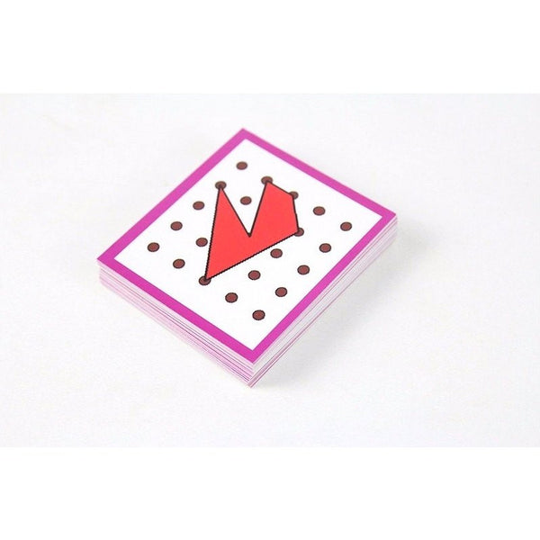Hand-eye Coordination - Geo Rubber Band Board Cards