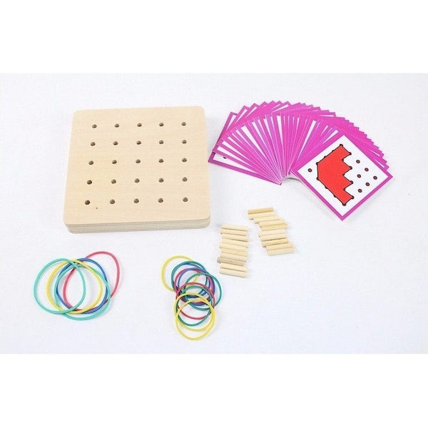 Hand-eye Coordination - Geo Rubber Band Board Overview