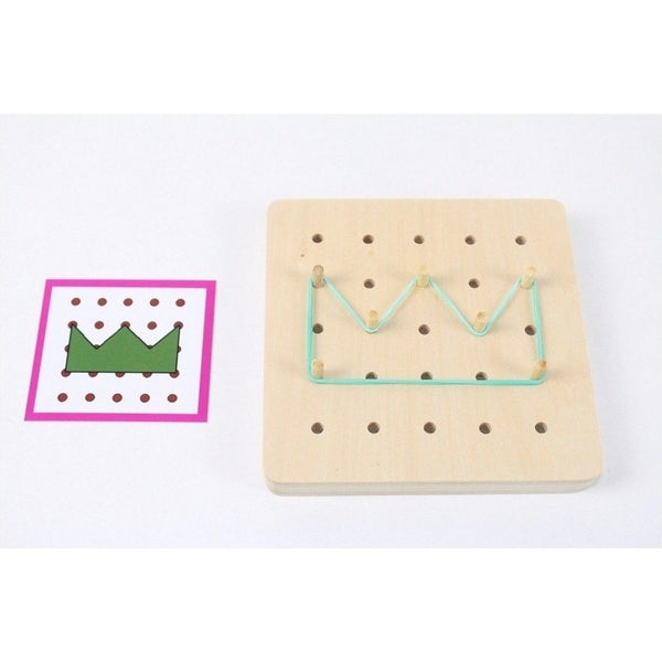 Hand-eye Coordination - Geo Rubber Band Board Pattern Crown