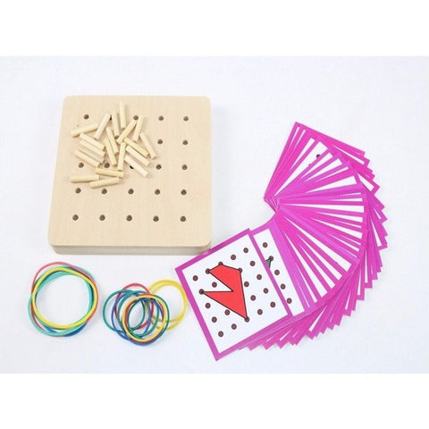 Hand-eye Coordination - Geo Rubber Band Board