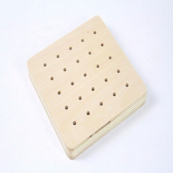 Hand-eye Coordination - Geo Rubber Band Wooden Board