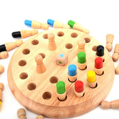 Montessori Educational toy to develop memory and learn color - The Memory Chess Game