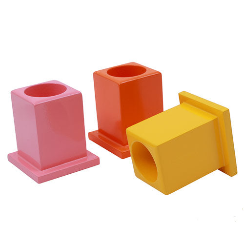 Montessori Classroom Decoration Colored Pencil Holder Set Close up