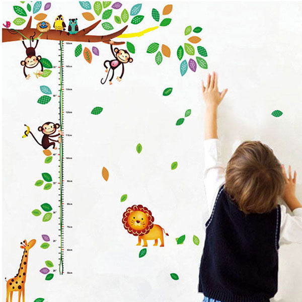 Monkey Tree Height Measurement Sticker