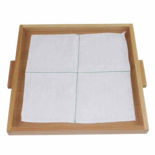Montessori Folding Cloth Learning Tray White 2 median