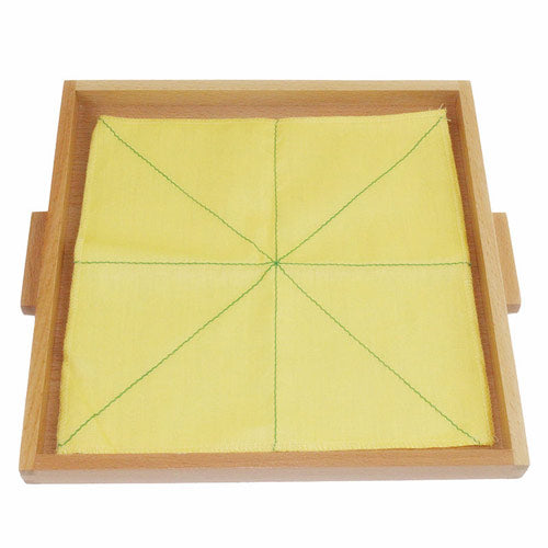 Montessori Folding Cloth Learning Tray Yellow 4 Lines