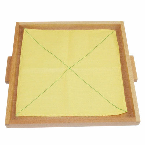 Montessori Folding Cloth Learning Tray Yellow Double diagonal