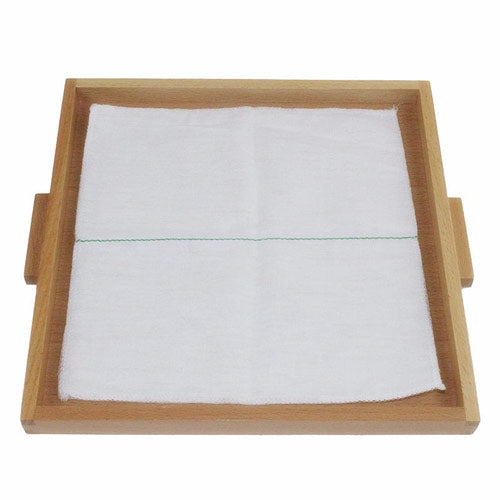 Montessori Folding Cloth Learning Tray White One median