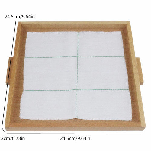 Montessori Folding Cloth Learning Tray Size
