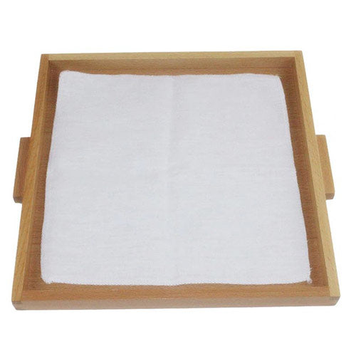 Montessori Folding Cloth Learning Tray White Blank