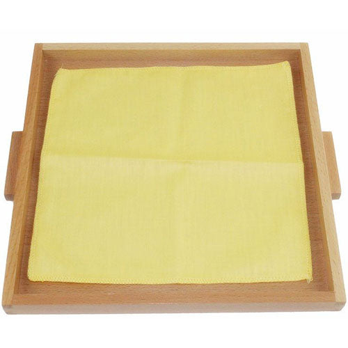 Montessori Folding Cloth Learning Tray Yellow Blank