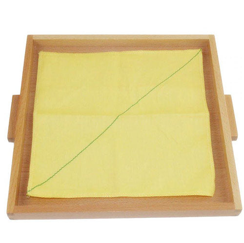 Montessori Folding Cloth Learning Tray Yellow One diagonal