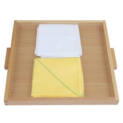 Montessori Folding Cloth Learning Tray