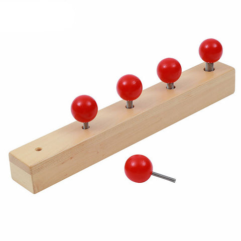 Fine Motor Skills – Montessori Screw Red Bolts Block