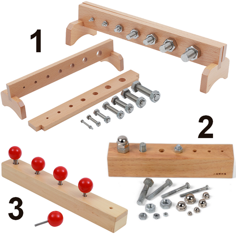 Montessori Screw Block Set