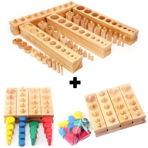Montessori Knobbed Cylinders Set