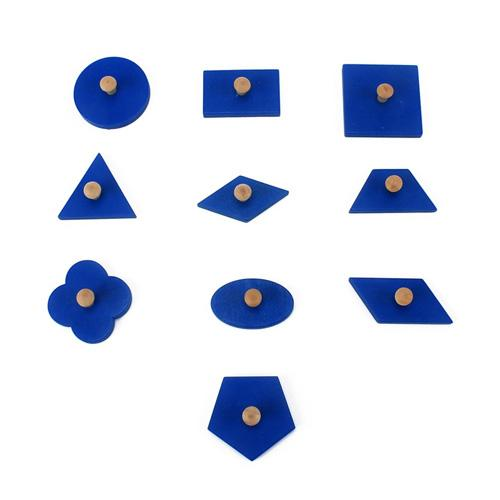 Montessori Wooden Insets geometric shapes