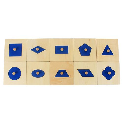 Montessori Wooden Insets shapes