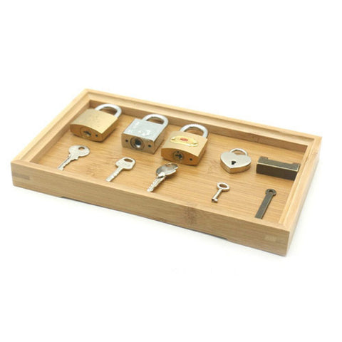 Wooden Lock and Key Learning Set