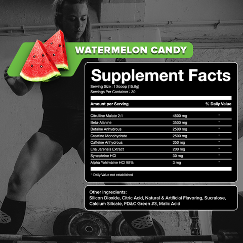 Pure Hype High Stim Preworkout Supplement Facts