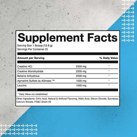 Pure Gains Creatine Complex Powder Supplement Facts