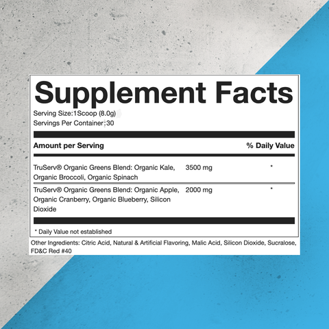 Pure Super Greens Powder Supplement Facts