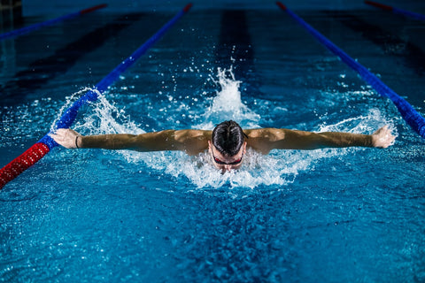 Full body form of cardio, swimming for exercise
