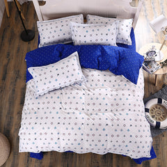 New Cotton Bedding Sets Anchor Navy Bed Sheets Set