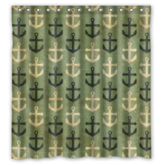 New Arrival Waterproof Polyester Anchor Shower Curtain 66