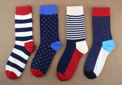 4 colors high quality  cotton autumn winter socks with college style